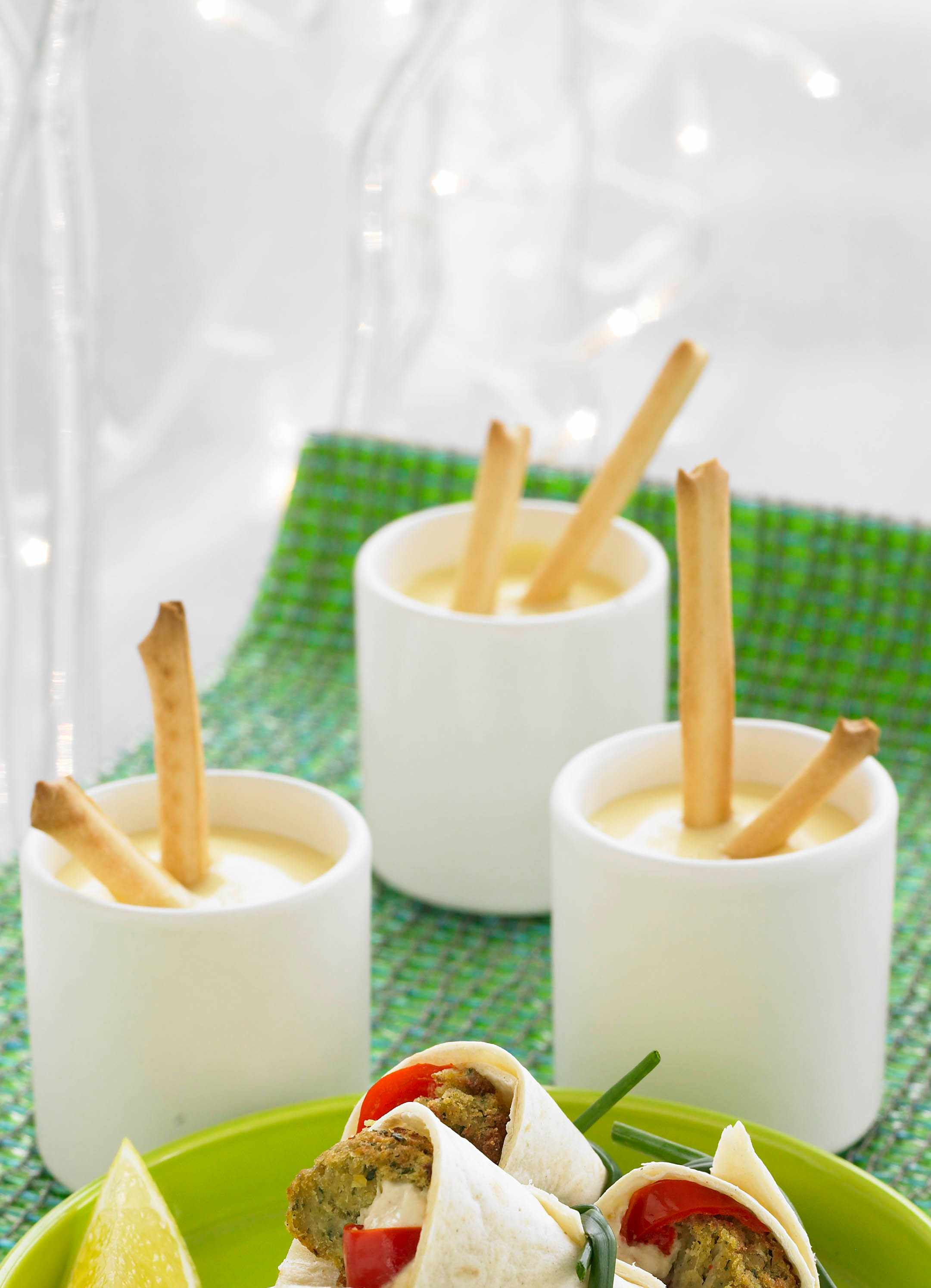 Mini cheese fondue with dippers
