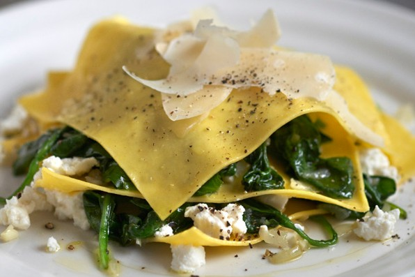 Open Spinach and Ricotta Ravioli Recipe