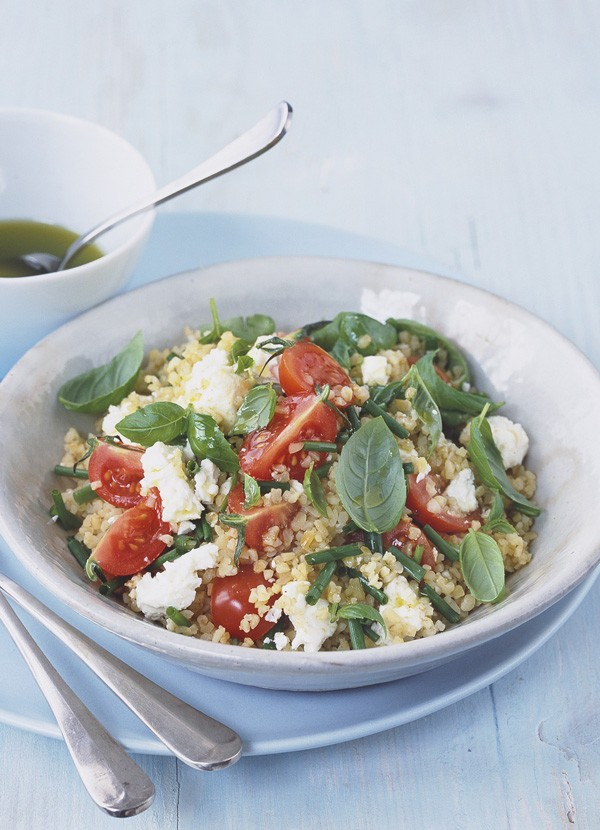 Bulgar wheat, feta and herb salad