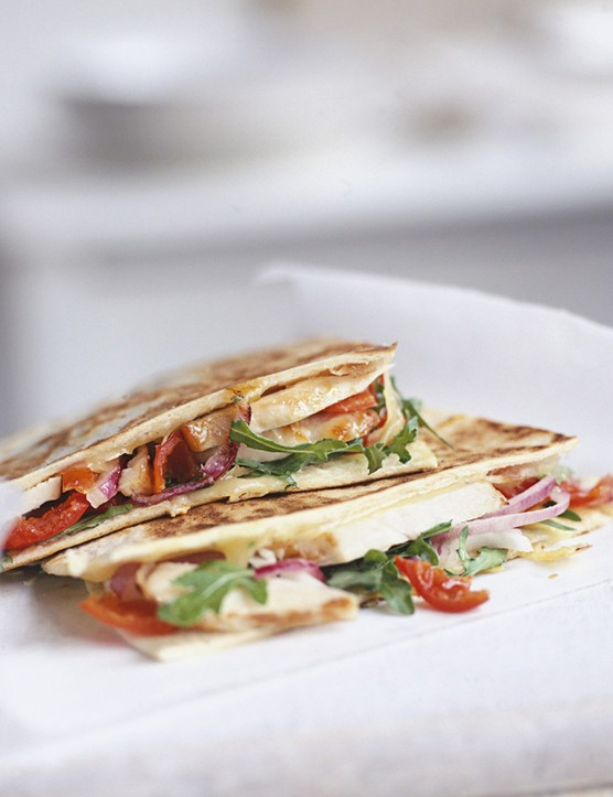 Chicken and Peppadew quesadillas