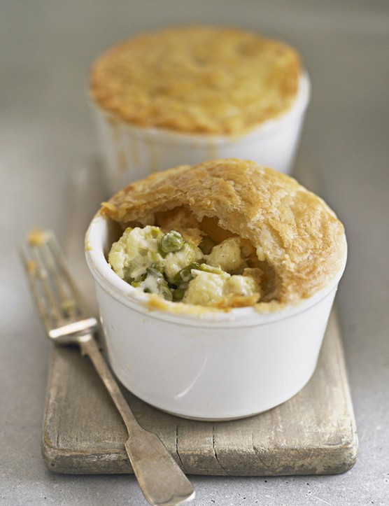 cauliflower cheese pot pies