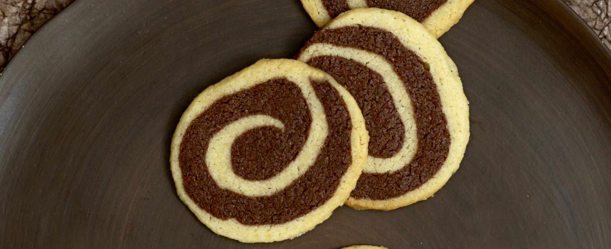 Black and white pinwheel cookies