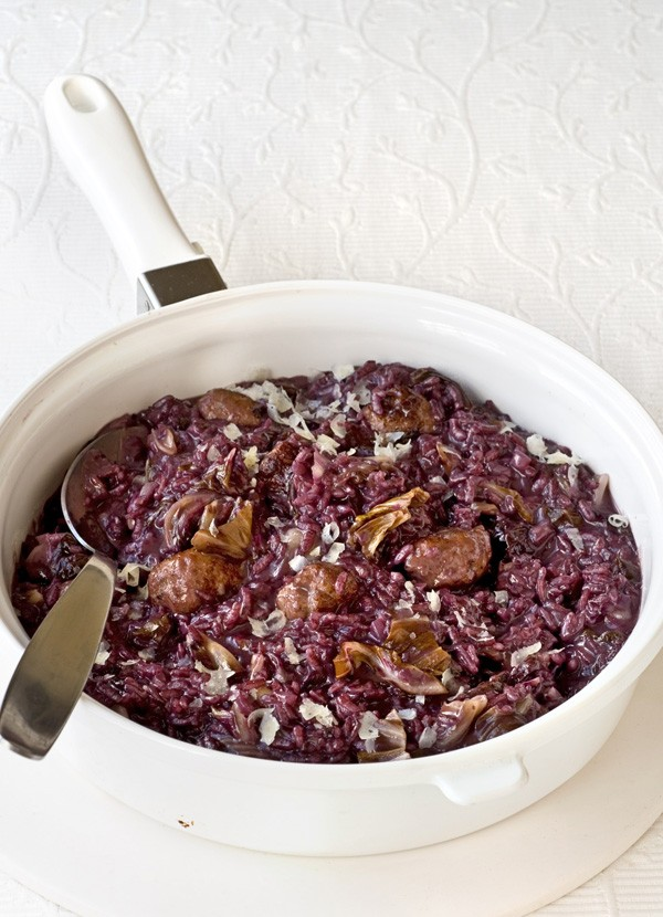 Sausage Risotto Recipe with Radicchio