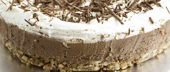 Milk chocolate and pecan torte
