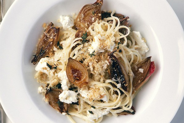 Sweet shallot and ricotta pasta