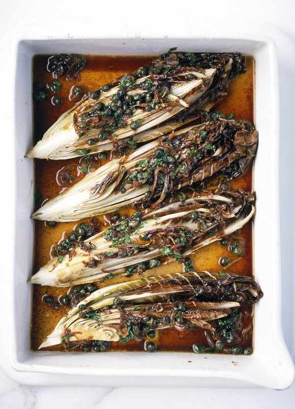 Radicchio with caper and balsamic sauce