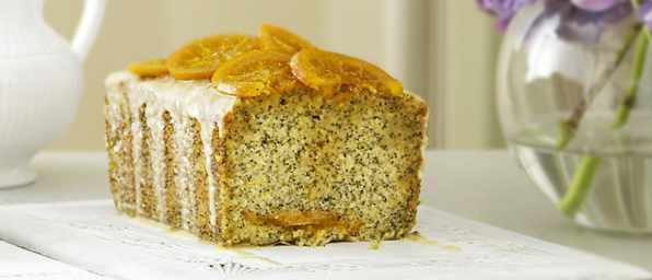 Orange Loaf Cake Recipe with Poppy Seeds