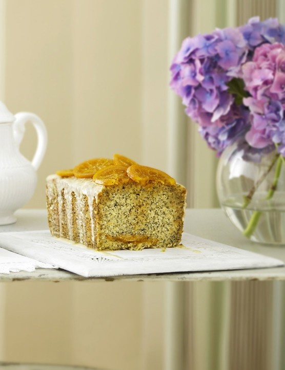 Orange Loaf Cake Recipe with Poppy Seeds