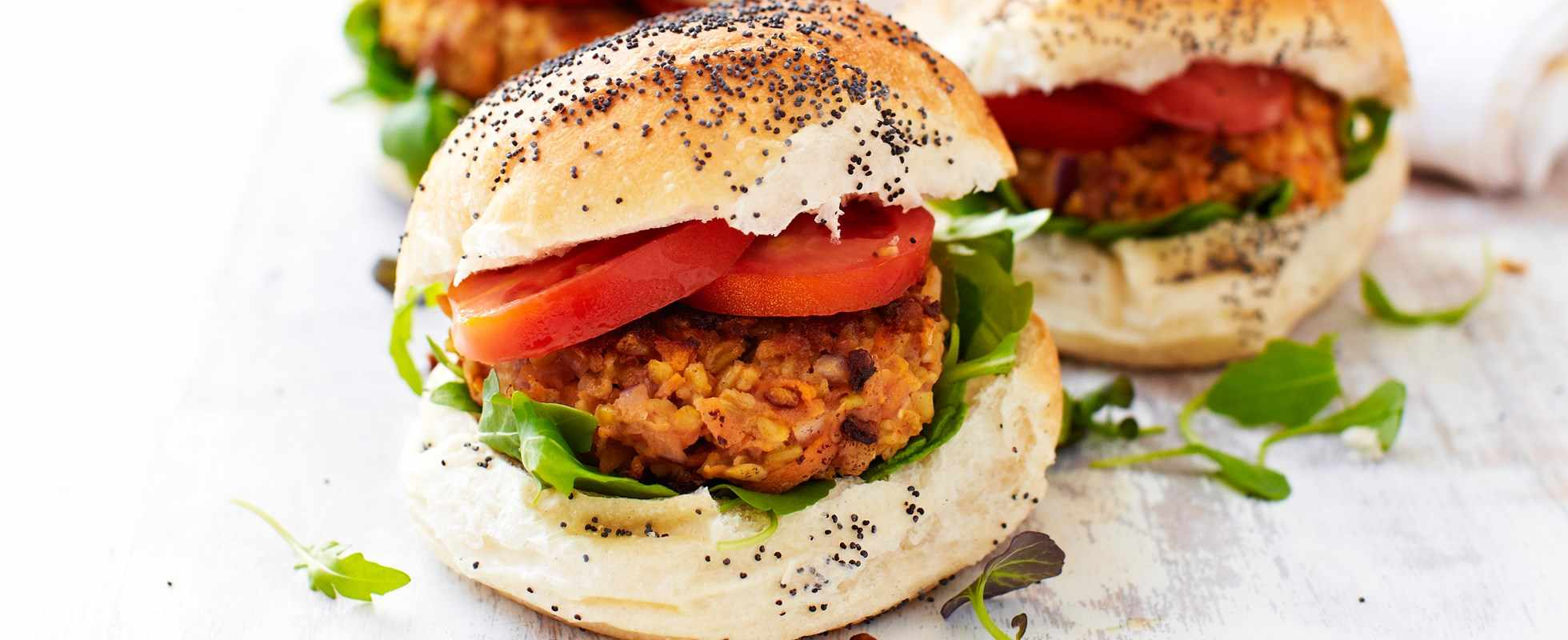 freekeh and carrot burgers