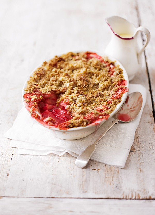 Spiced Rhubarb Crumble recipe