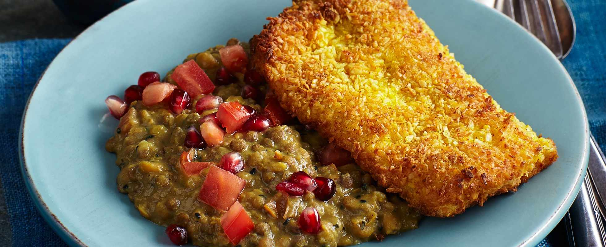 Coconut pollock with dahl