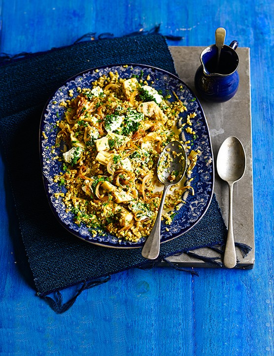 Freekeh Salad with Artichoke and Labneh Recipe
