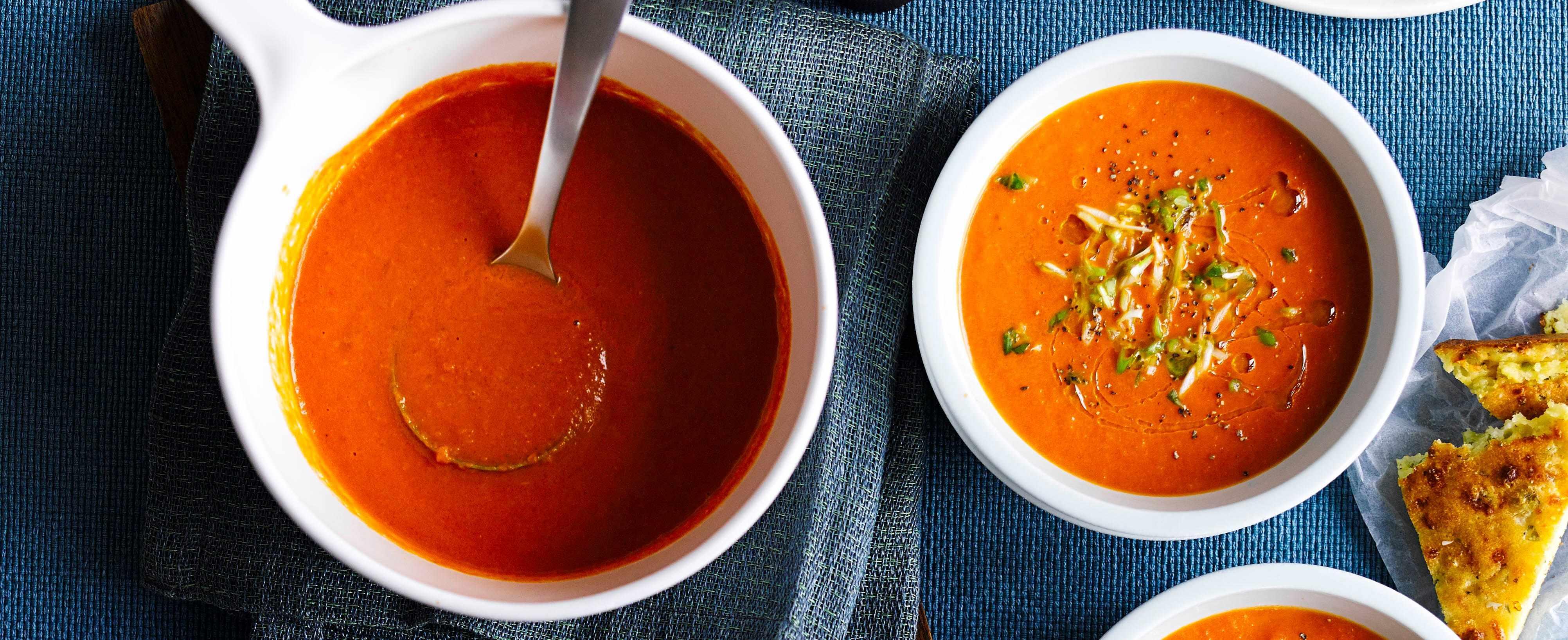 Tomato Soup Recipe with Cornbread