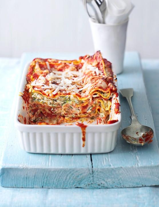 Quick Courgette Vegetarian Lasagne Recipe