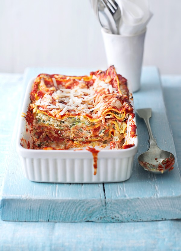 Quick courgette lasagne