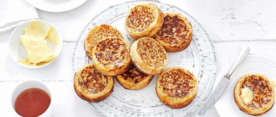 Triple cheese crumpets