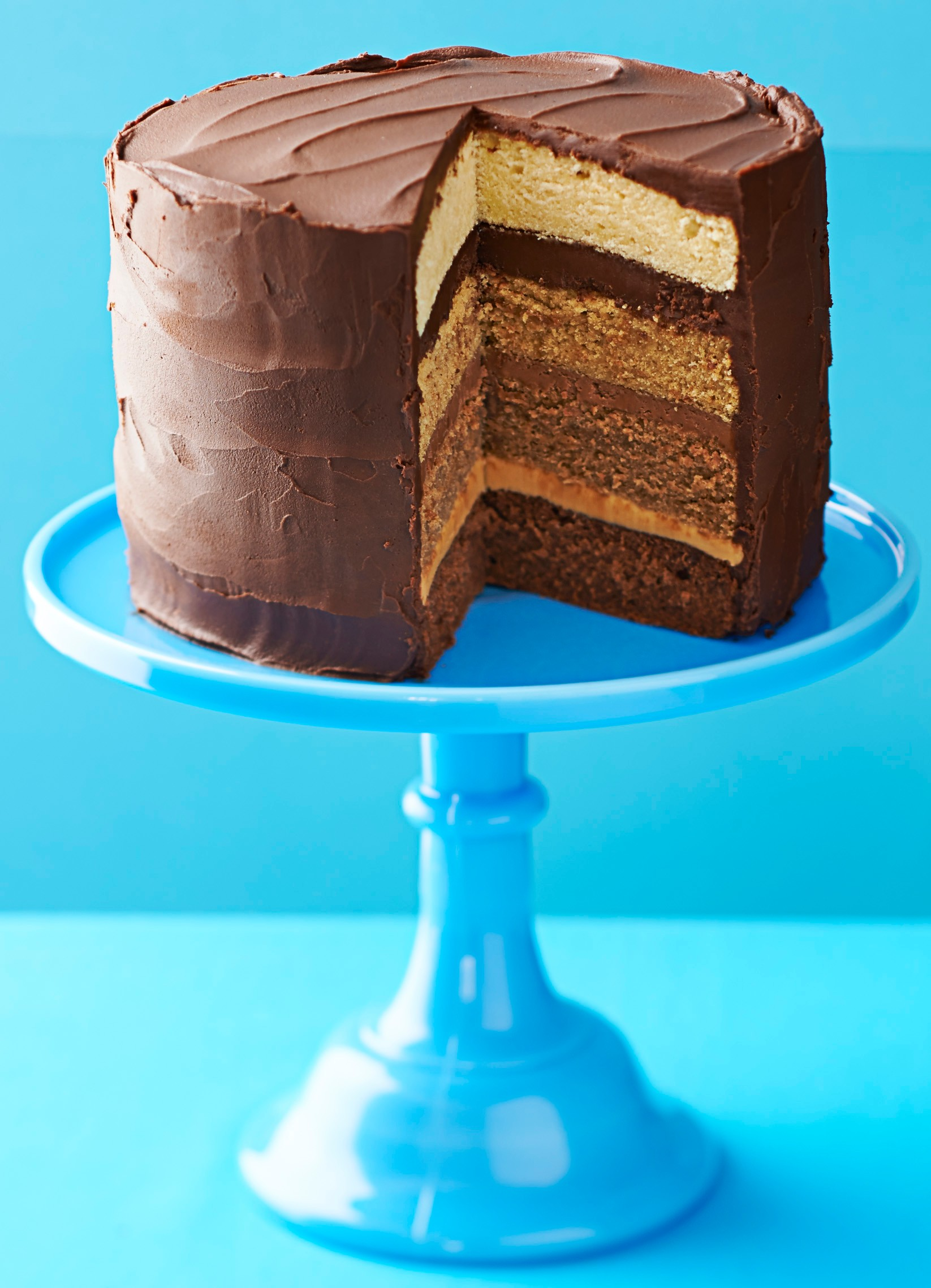 Chocolate Caramel Cake Recipe For Ombre Cake