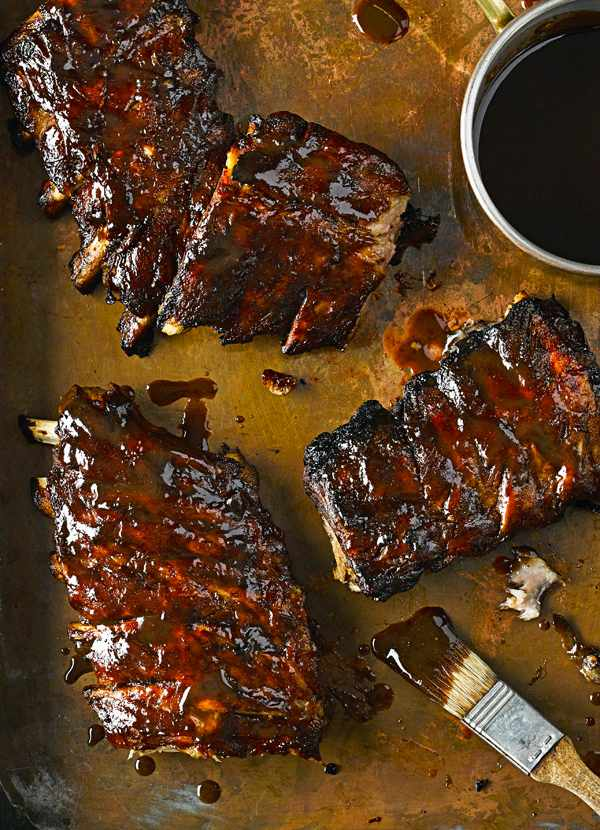 Fall-apart bourbon ribs