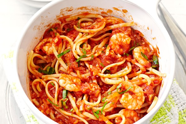 Spicy Prawn Linguine Recipe