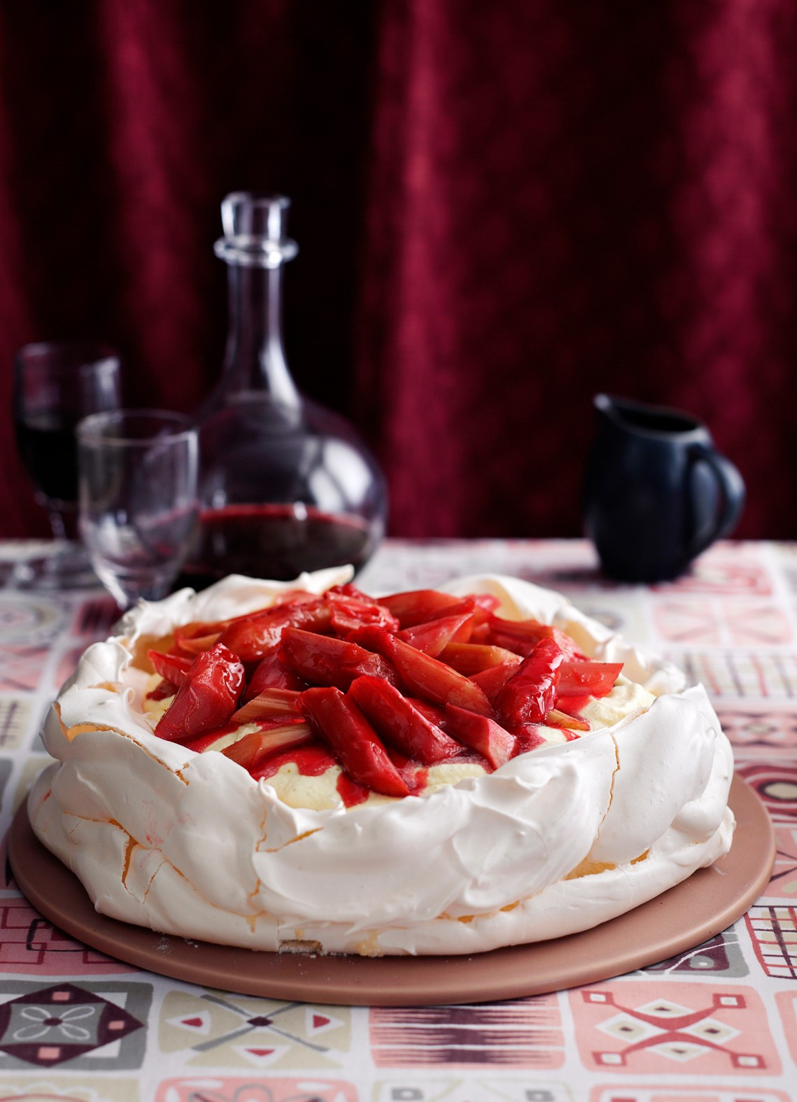 Rhubarb and Custard Pavlova Recipe