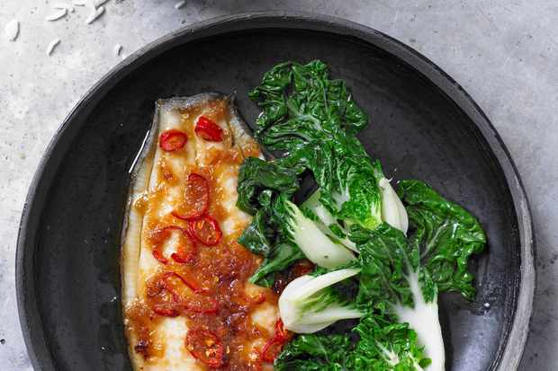 Lemon Sole Recipe with Chinese Vegetables