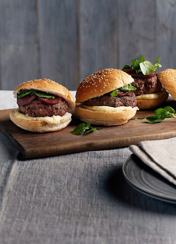 Beef Burgers with Beetroot Recipe