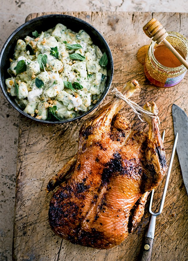 Dan Doherty's duck with lavender honey, and spinach, ricotta and pine nut dumplings recipe