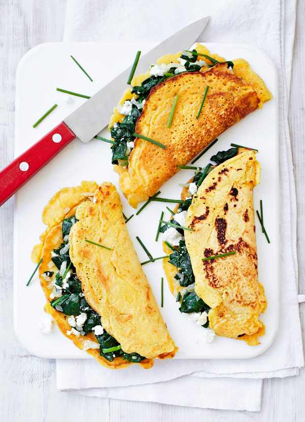 Spinach and Feta Pancakes Recipe
