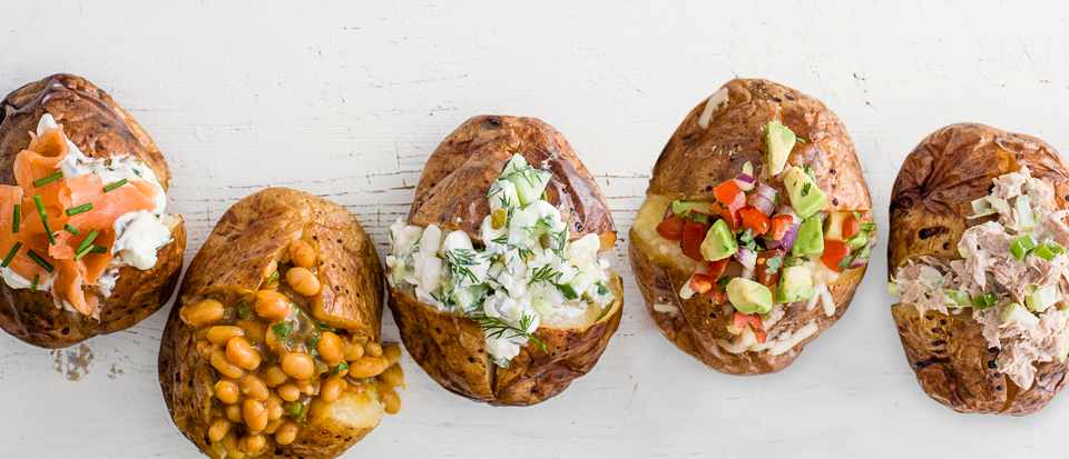 Perfect Baked Jacket Potato Guide With Topping Ideas Olivemagazine