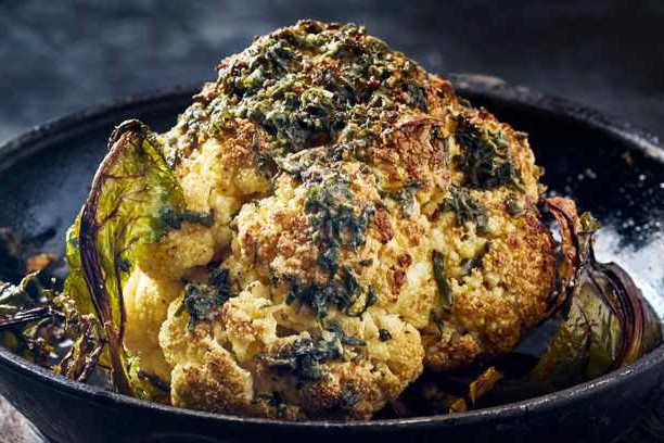 sage butter basted cauliflower