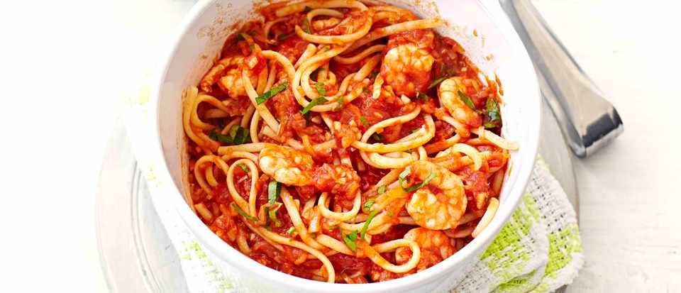 Spicy Prawn Linguine Pasta Recipe