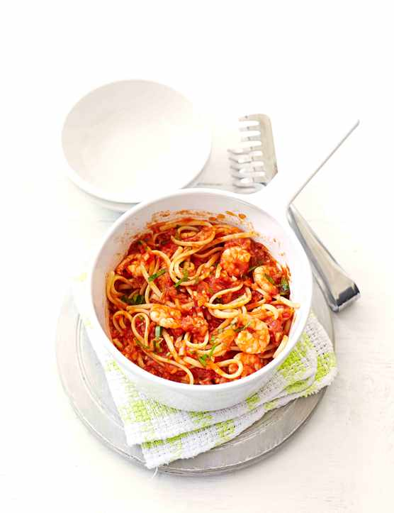 Spicy Prawn Linguine Pasta Recipe