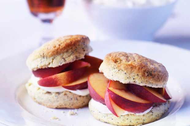 Lemon Shortcakes Recipe with Peaches