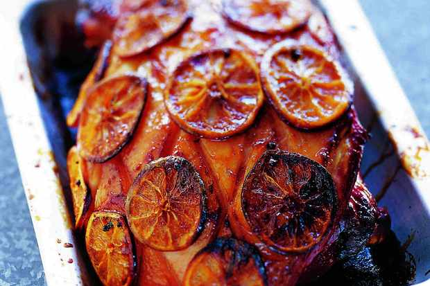Baked Ham Recipe with Oranges