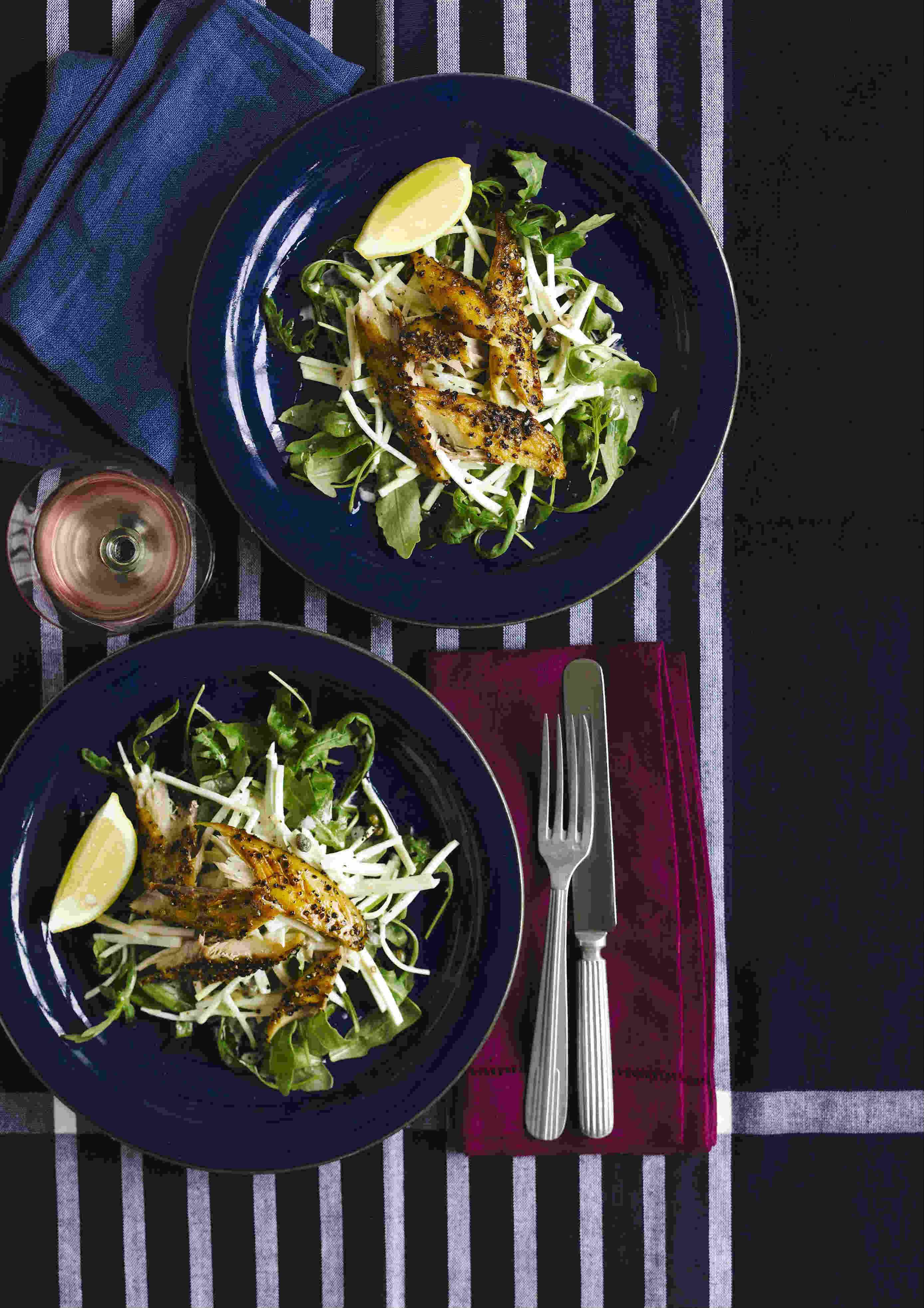 Smoked Mackerel Recipe with Celeriac and Rocket Salad
