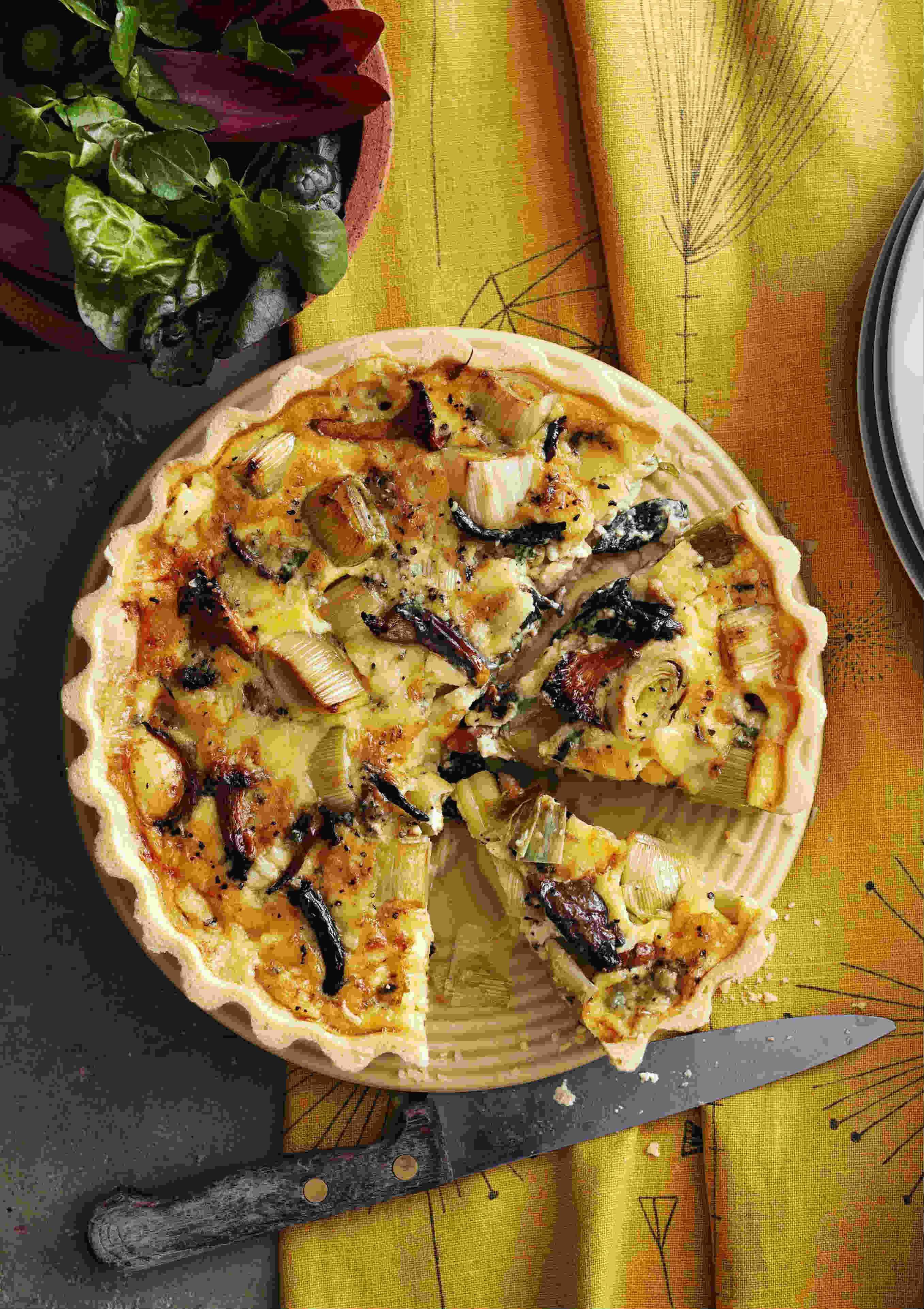 Wild Mushroom Tart Recipe With Leek and Stichelton