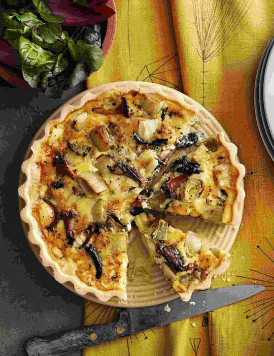 Wild Mushroom Tart Recipe With Leek and Stichelton