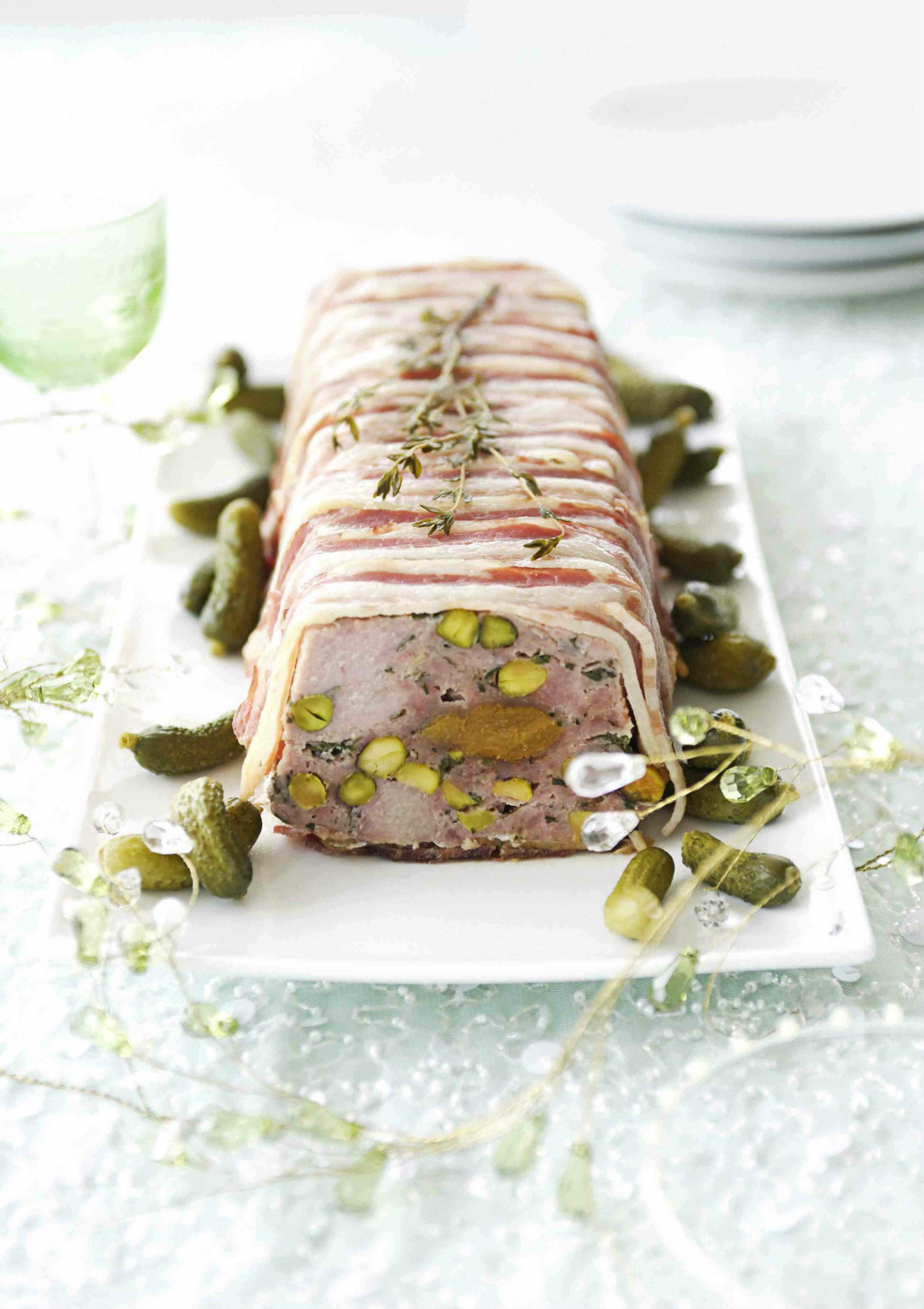 Pork and Pistachio Terrine Recipe with Apricot