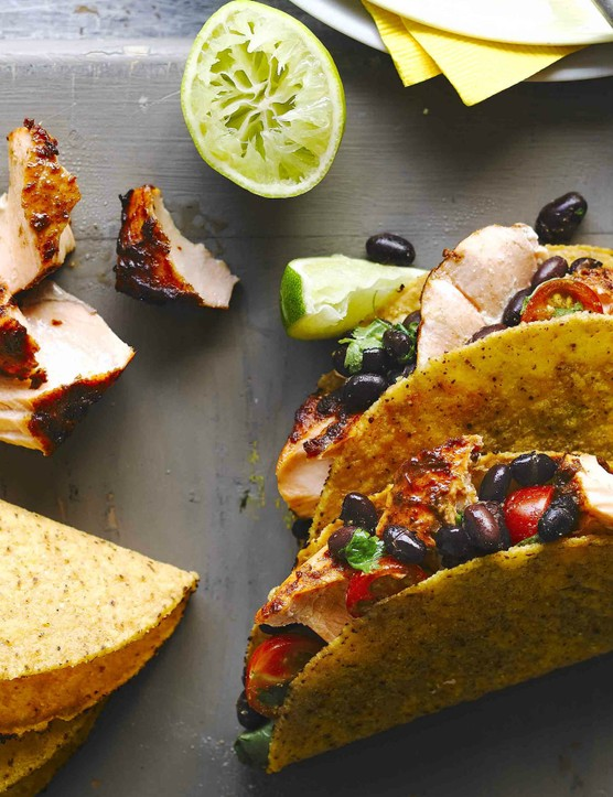 Salmon Tacos Recipe with Black Bean