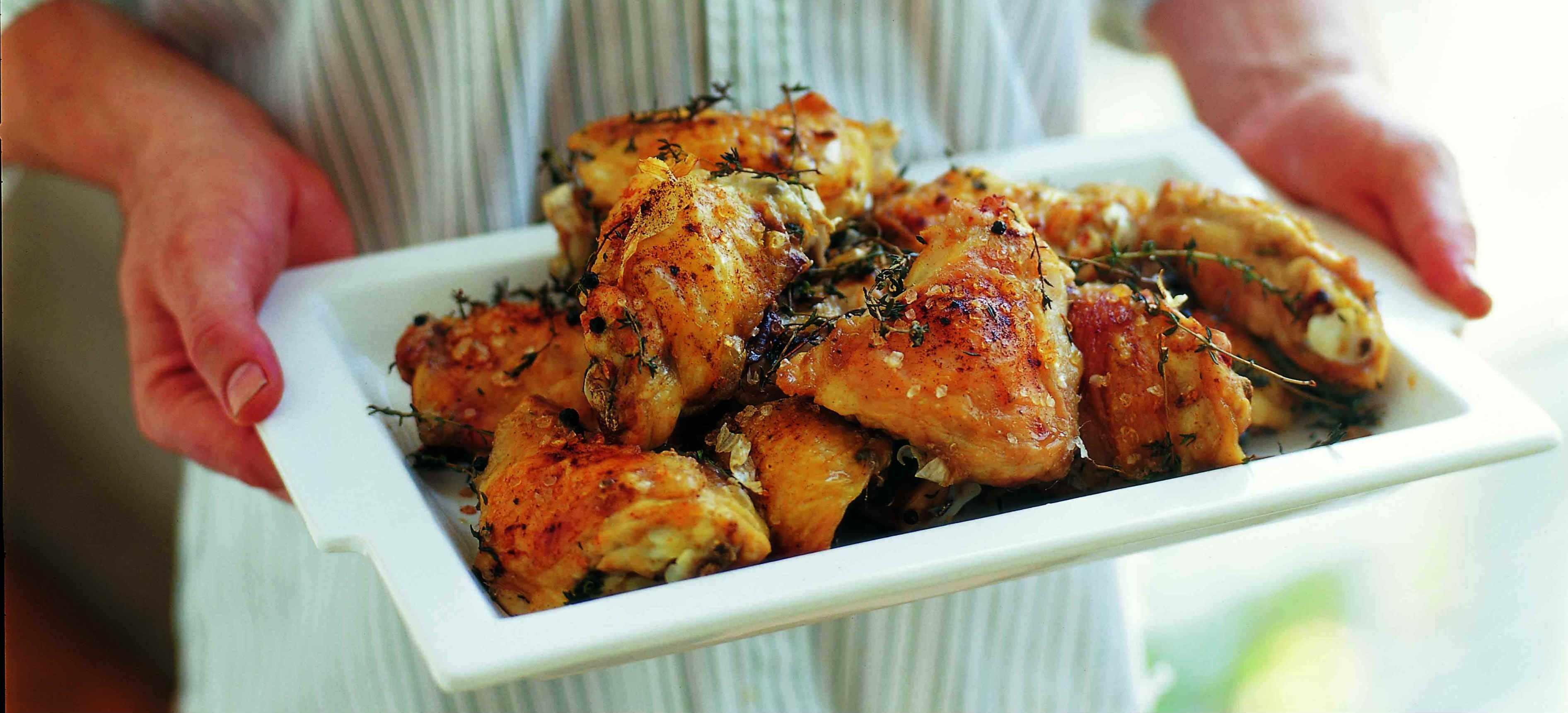 Salt-roast chicken