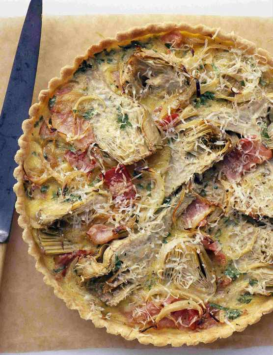 Artichoke Tart with Bacon Recipe