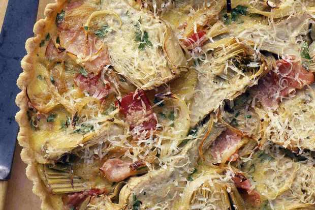Artichoke Tart with Bacon Recipe