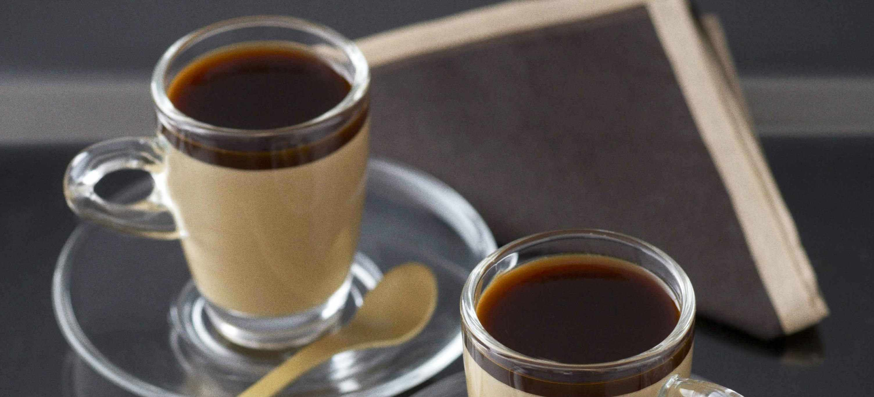 Spiced creamy coffee jellies