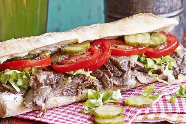 Roast Beef Sandwich Po Boy