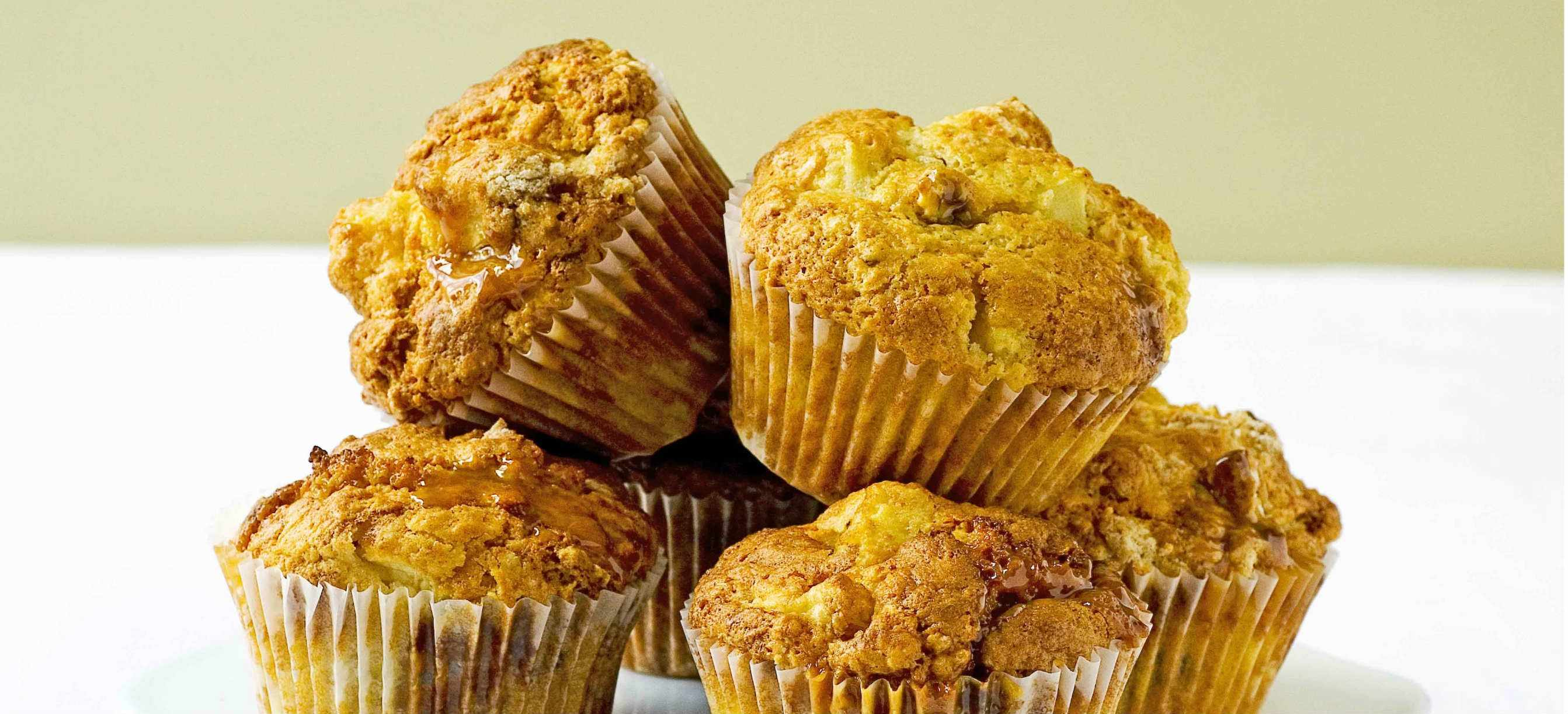 Toffee apple and pecan muffins