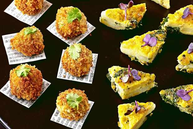 20 best vegetarian canaps olive magazine spinach and potato tortilla bites forumfinder Image collections