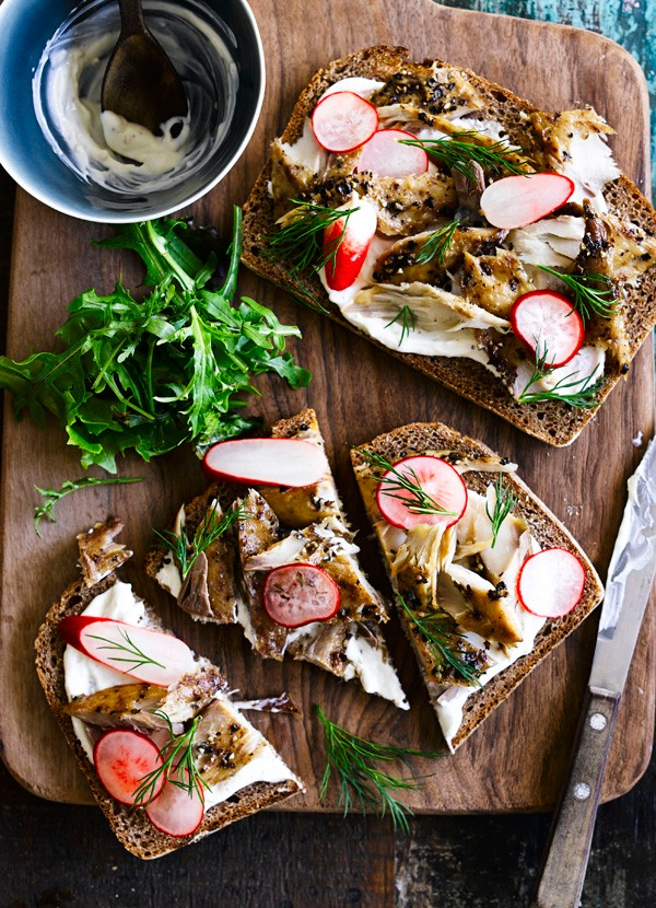 Smoked Mackerel Open Sandwich Recipe On Rye Bread