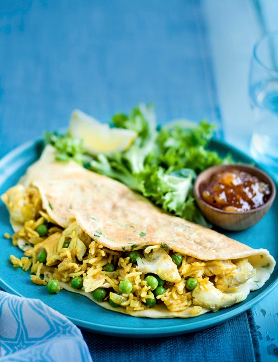 Smoked Haddock Kedgeree Omelette Recipe