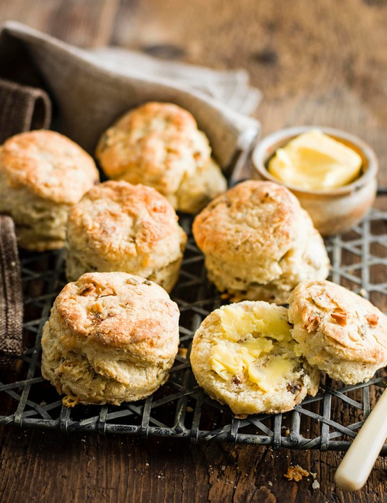 Blue Cheese Scones Recipe with Walnuts