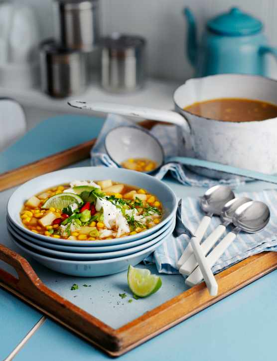 Sweetcorn Chowder Recipe With Spicy Crab